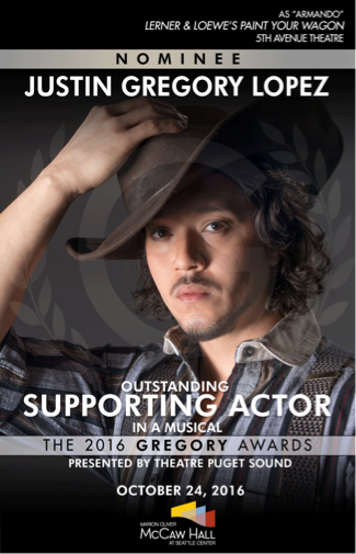 Justin Gregory Lopez in 5th Avenue Theatre's 'Paint Your Wagon'