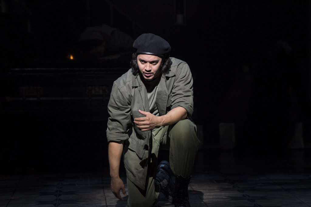 Justin Gregory Lopez as Che in EVITA at Asolo Repertory